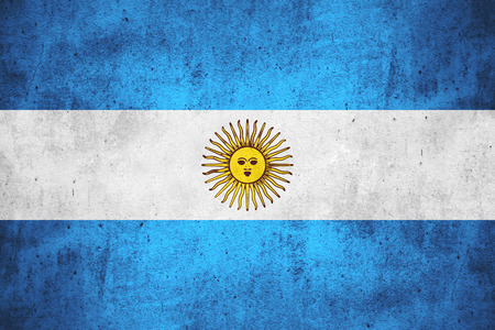 argentinian flag: flag of Argentina or Argentinian banner on rough pattern texture background
