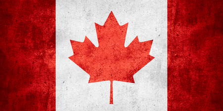 canadian state flag: flag of Canada or Canadian on rough pattern texture background