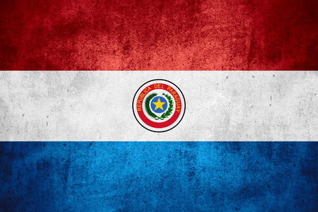 paraguayan: flag of Paraguay or Paraguayan on rough pattern texture background