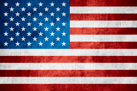 United States of America flag or American banner on rough pattern texture background
