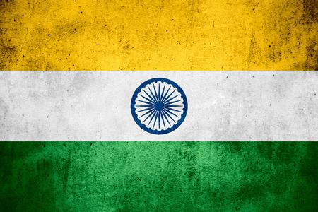 bandera de la india: bandera de la India o la bandera de la India en el patr�n de �spera textura de fondo