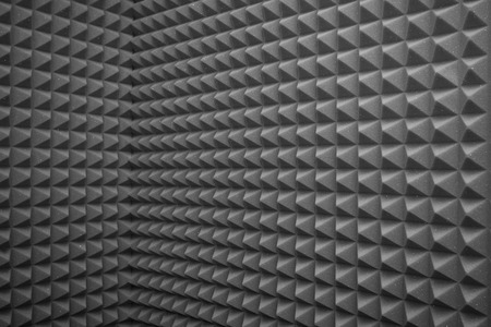 abstract grey background or soundproof wall texture Standard-Bild