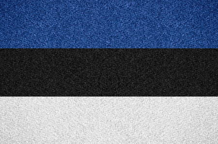 estonian: flag of Estonia or Estonian symbol on abstract background Stock Photo