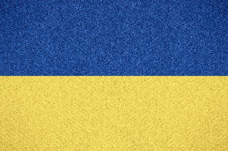 flag of Ukraine or Ukrainian symbol on abstract background Фото со стока