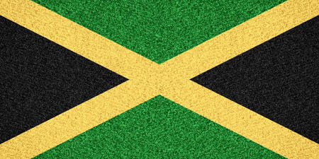 jamaican: flag of Jamaica or Jamaican symbol  on abstract background