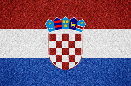 croatian: flag of Croatia or Croatian symbol on abstract background Stock Photo