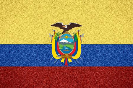 ecuadorian: flag of Ecuador or Ecuadorian symbol  on abstract background