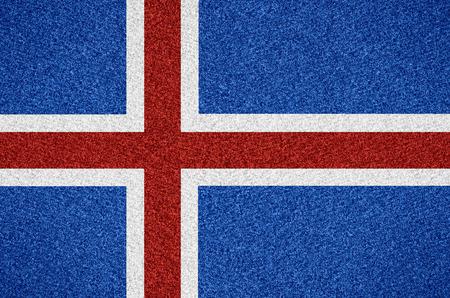 icelandic: flag of Iceland or Icelandic symbol of on abstract background Stock Photo