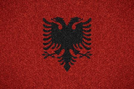 albanian: flag of Albania or Albanian symbol on abstract background