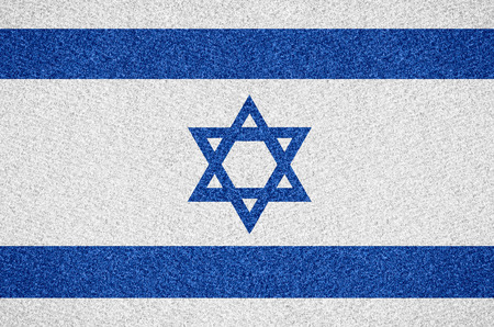 israeli: flag of Israel or Israeli symbol on abstract background Stock Photo