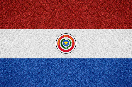 paraguayan: flag Of Paraguay or Paraguayan symbol  on abstract background Stock Photo