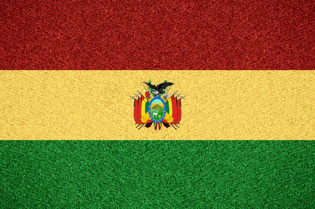bolivian: flag of Bolivia or Bolivian symbol  on abstract background