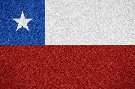 bandera chilena: bandera de Chile o símbolo chilena en el fondo abstracto Foto de archivo