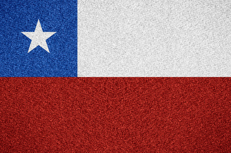chilean flag: flag of Chile or Chilean symbol  on abstract background