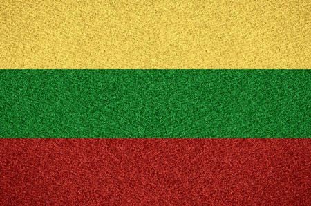 lithuanian: flag of Lithuania or Lithuanian symbol on abstract background