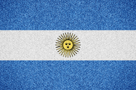 argentinian: Argentina flag or Argentinian symbol  on abstract background Stock Photo