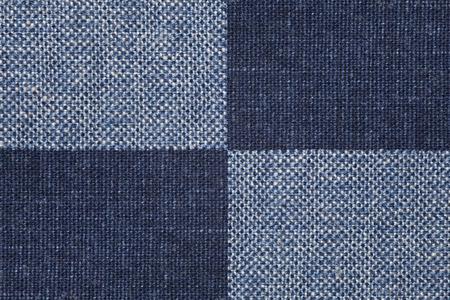 azul marino: comprobar el fondo de lino o azul marino azul textura de la lona Foto de archivo
