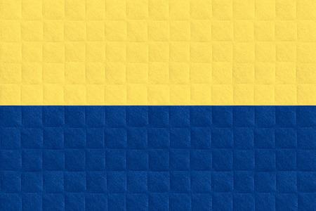 flag of Ukraine or Ukrainian banner on check pattern background Фото со стока