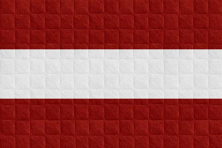 Flagge Von österreich Oder österreichische Fahne Auf Karomuster