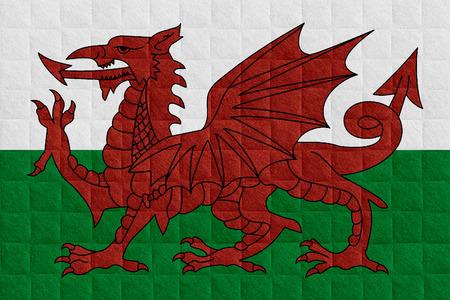 welsh flag: bandiera del Galles o gallese bandiera del check motivo di sfondo
