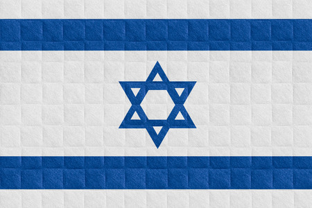 israeli: flag of Israel or Israeli banner on check pattern background
