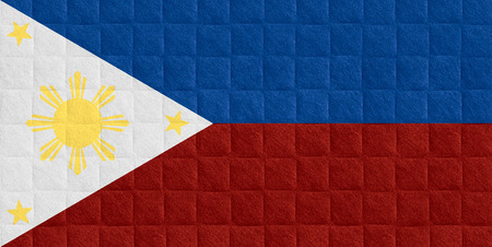 philippine: flag of the Philippines or Philippine banner on check pattern background