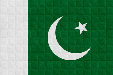 pakistani pakistan: flag of Pakistan or Pakistani banner on check pattern background