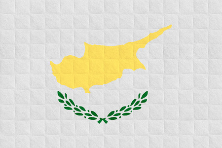 cypriot: flag of Cyprus or Cypriot banner on check pattern background