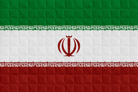 iranian: flag of Iran or Iranian banner on check pattern background
