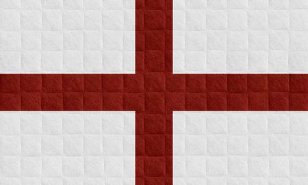bandera inglaterra: Bandera de Inglaterra o banner Ingl�s en el patr�n de verificaci�n de antecedentes