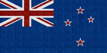 bandera de nueva zelanda: bandera de Nueva Zelanda o banner en el patr�n de verificaci�n de antecedentes