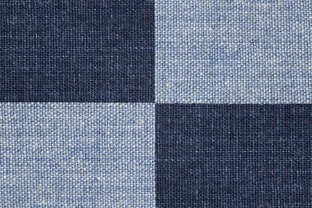 blue navy: comprobar el fondo de lino o azul marino azul textura de la lona Foto de archivo