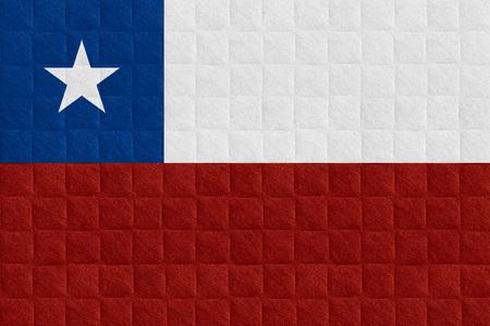 bandera chilena: bandera de Chile o la bandera chilena en el patr�n de verificaci�n de antecedentes