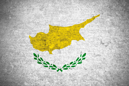 cypriot: flag of Cyprus or Cypriot banner on old metal texture background