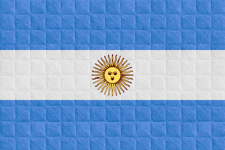 argentinian flag: flag of Argentina or Argentinian banner on check pattern background
