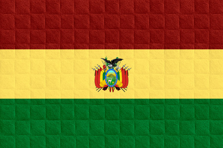 bolivian: flag of Bolivia or Bolivian banner on check pattern background
