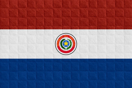 paraguayan: flag of Paraguay or Paraguayan banner on check pattern background