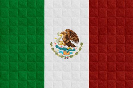 bandera de mexico: bandera de M�xico o la bandera mexicana en el patr�n de verificaci�n de antecedentes Foto de archivo
