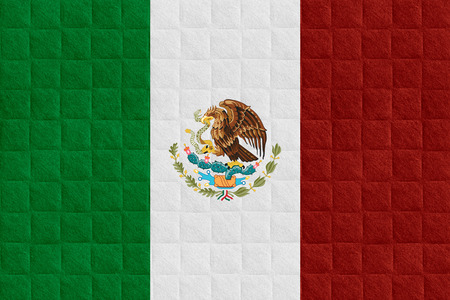 mexico background: flag of Mexico or Mexican banner on check pattern background
