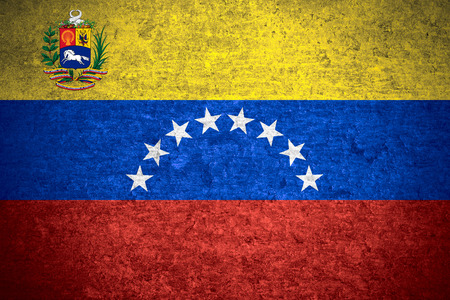 venezuelan: flag of Venezuela or Venezuelan banner on old metal texture background