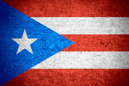 puerto rican: flag of  Puerto Rico or Puerto Rican banner on old metal texture background