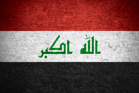 iraqi: flag of  Iraq or  Iraqi banner on old metal texture background