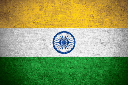 bandera de la india: bandera de la India o la bandera de la India en el metal viejo textura de fondo