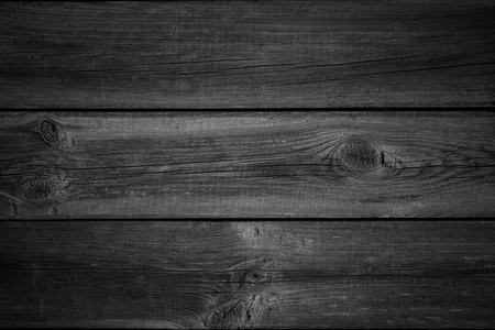 black wood texture: black wooden planks background or wood grain texture