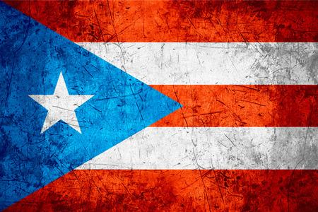 bandera de puerto rico: bandera de Puerto Rico o Puerto Rico bandera en patrón áspero fondo de metal Foto de archivo
