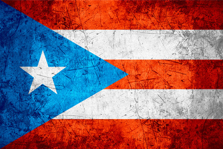 puerto rican: flag of Puerto Rico or Puerto Rican banner on rough pattern metal background