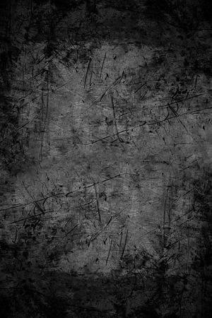 textura: fundo abstrato preto ou textura de metal riscado Banco de Imagens