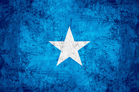 somalian: flag of Somalia or Somalian banner on rough pattern metal background