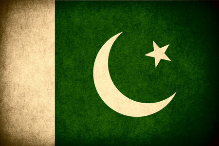 pakistani pakistan: flag of Pakistan or Pakistani banner on paper rough pattern vintage texture