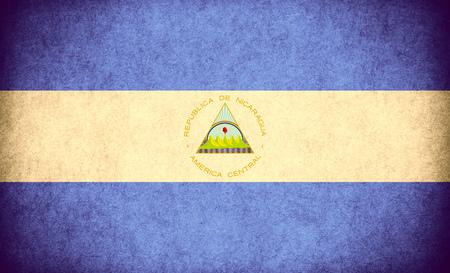 nicaraguan: flag of Nicaragua or Nicaraguan banner on paper rough pattern vintage texture